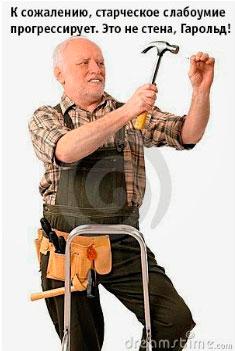 К сожалению, старческое слабоумие прогрессирует. Это не стена, Гарольд!